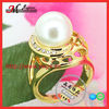 R5798 Jingmei Mix Color Gold Ladies Rings Pearl
