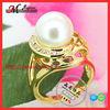 R5798 Jingmei Mix Color Gold Ladies Rings Pearl