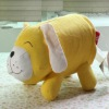 funny yellow dog design cotton fabric toilet tissue cover