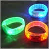 LED flashing wristband bracelet lighting jewelry for corporate gift