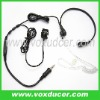 Clear Air tube throat vibration earphone with finger PTT for Yaesu Vertex two way radio VX6R/E VX7R/E VX170