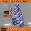 Purple White Striped Elegant Tie