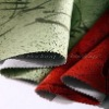 Flock coated fabric/decorative fabric