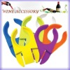Plastic wine glass holder