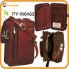 wholesale shoulder leather organizer bag