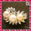 2011 new fashion silver pearl brooch,latest lady brooch,hot sale costume jewelry