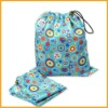 Waterproof Baby Diapers Wet Bag With Drawstring Style