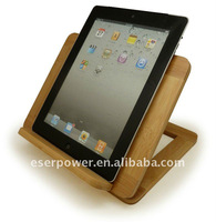 Fold-up Wood Laptop Cradle for iPad Tablet PC (IPD-ST500)