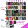 3D NAIL POLISH STICKER FULL NAIL WRAPS SELF ADHESIVE STICKERS - Art Decals - GLITTER / UV - Brand New