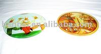 printed glass coaster