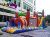 Double-lane Slide Inflatable Combo Castle
