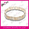 Gold Plating Stainless Steel Bracelet with Stones
