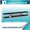 2012 modern leisure design fashion glass tv stands