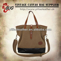 Coated Canvas Tote Bag With Long Strap