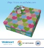 Disposable Colorful Heart Design Paper Printed Gift Boxes
