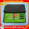desk pen stand golf set with 2pcs golf ball and flag