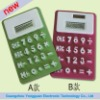 Full Color Foldable Flexible Solar Calculator