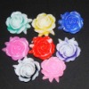 resin rose flower flatback 10mm