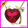 2012 FASHION SWEET CHARMS WHOLESALE,ANGEL HEART PENDANT JEWELRY FOR LOVERS