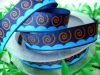 "5/8""Navy polyester grosgrain printed ribbon"