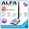 1000mW Awus036H Alfa wifi adapter with 5dBi antenna