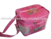 pink nylon children lunch bag warmer bag