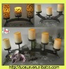electric pillar candle with tall candle holder wholesale for weddings