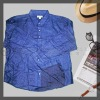 men's flannel solid dyed shirt bright blue color