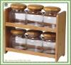 glass jar with bamboo rack
