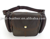 7016C New 100% Genuine Leather Dark coffee Fahion Design Men's Waist Pack Purse