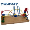 wooden educational bead toy for baby