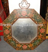 Antique reproduction Tibetan painted mirror