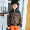 Guangzhou Wholesale Upper Outerwear Without Hood Leopard Fleeces Jacket For Little Boy