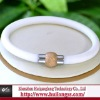 white silicone 6mm magnetic clasp bracelet