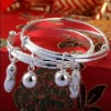 handmade baby silver jewelry adjustable silver baby gift bangles