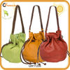 new come drawstring leather shoulder bag