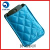 fashion shiny blue pu cell phone bag/mobile phone pouch