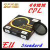 For Sony NEX-7 5C 5N C3 Zomei 49mm cpl polarizer filter