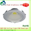 Hot sale Energy-Saving Warm White 7 inch 20W COB LED Ceiling Light/COB LED Downlight