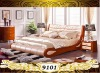 Modern Design Italian Leather Bedroom Set 9101