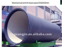 Mechanical (K-type) joint Ductile Iron Pipes