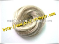 The heat resistant synthetic hair bun accessories for sale
