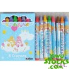 Lot#: k5070001 stocks Care Bears 8 Crayons Non Toxic