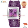 2012 fashion women stylish purple leather band watches