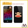 Hot selling cell phone accessory for iphone color screen protector for iphone 4