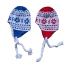 100% acrylic jacquard knitted hat fleece lining