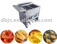 double frying area fryer