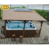 deluxe swimming pool wooden gazebos