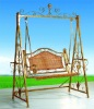 wrought iron garden swing--JHD-144