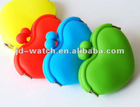 2012 silicone wallet heart shape manufactor wholesaler silicone coin wallet pochi purse